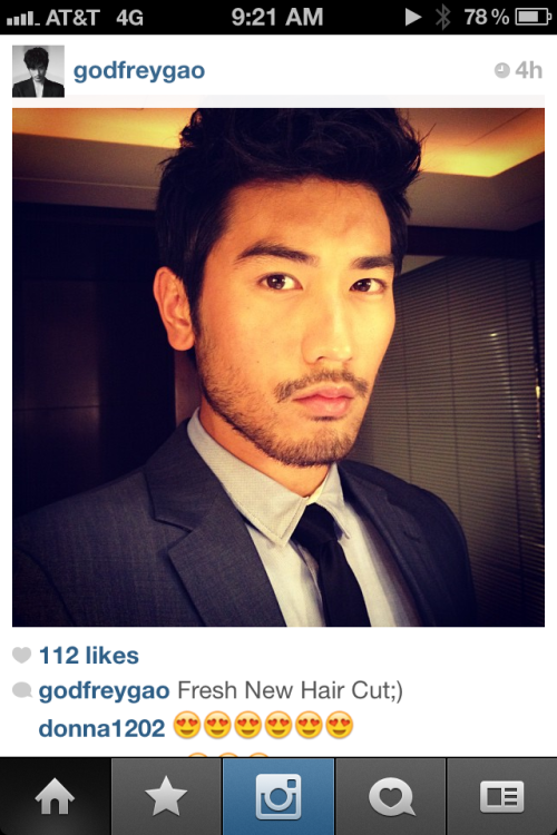 lovekanno:  Good Morning, Godfrey Gao.  I'm awake!!!!!! *___________*