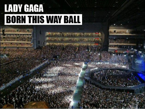 ladyxgaga:  Check out this awesome photo of Gaga's first sold out Born This Way Ball show in Tokyo, Japan! Videos from the show: Born This Way Bad Romance Just Dance Telephone Yoü and I Poker Face The Edge of Glory