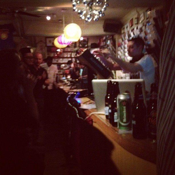 Night Slugs release at Phonica. Bok Bok currently on.  (Taken with instagram)