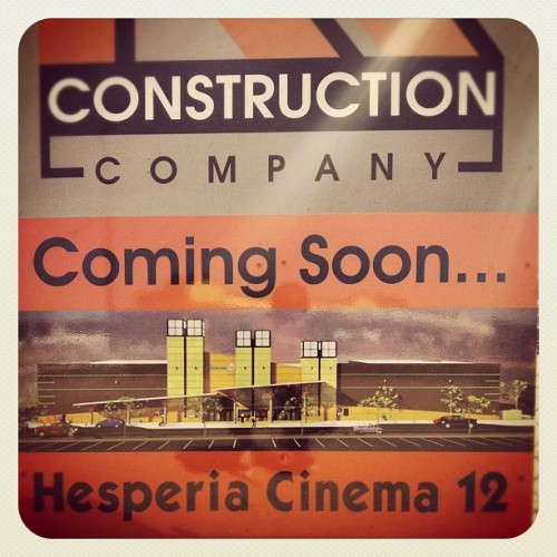 Under Construction! 12 Screen IMAX Movie Theater [9th & Main] coming December 2012, IT'LL SERVE ALCOHOL!!! 🎥📼❕❕ Bout time! Lol #drinking #drunk #liquor #beer #happyhour #happyhour #instagood #instrgram #mayphotoadaychallenge #dope #bomb  #mostdope #imax #3d #movies#theavengers #thedarkknightrises #christmas  (Taken with Instagram at Hesperia, CA)