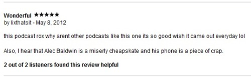 lizgalvao:  Paul F. Tompkins knows how to get reviews on his podcast: inside jokes with the listeners.