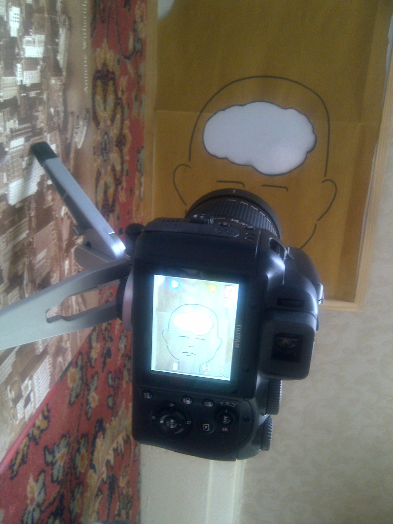 My makeshift stop motion workspace.