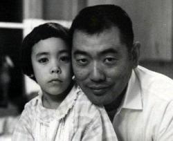My name is Barbara. This is a photo my mom took of me and my dad in 1964. He's the reason I'm part Japanese. He was born near Tacoma Washington, so he was a citizen, but still ended up in a relocation camp in Idaho. We have his id from when he left the camp to work in Montana, and his discharge from the US Army, Military Intelligence. He was an early member of the Japanese American Citizens League, and helped Washington State University get's its Asian American Studies Program started. That's where I first met students from Hawaii, and it was nice to find out that some things don't have to be the way they are. Maybe you can change them.