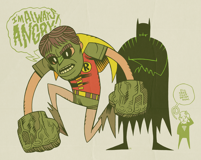 fumettidccomics:  mrhipp:  TIME TO GET A NEW ROBIN…  by mrhipp