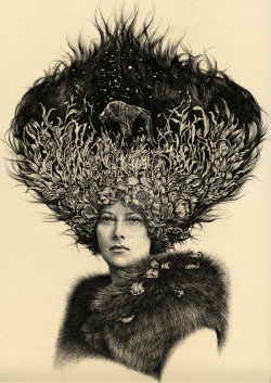 danceabletragedy:  Mary (Portrait of Great Grandmother), 2012 by LucyHardie