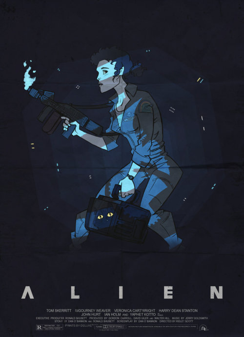 aliensandpredators:  ALIEN POSTER by ArkadeBurt on deviantART