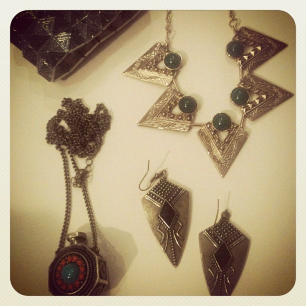 #aztec tribal #jewellery splurge @forever21 (Taken with instagram)