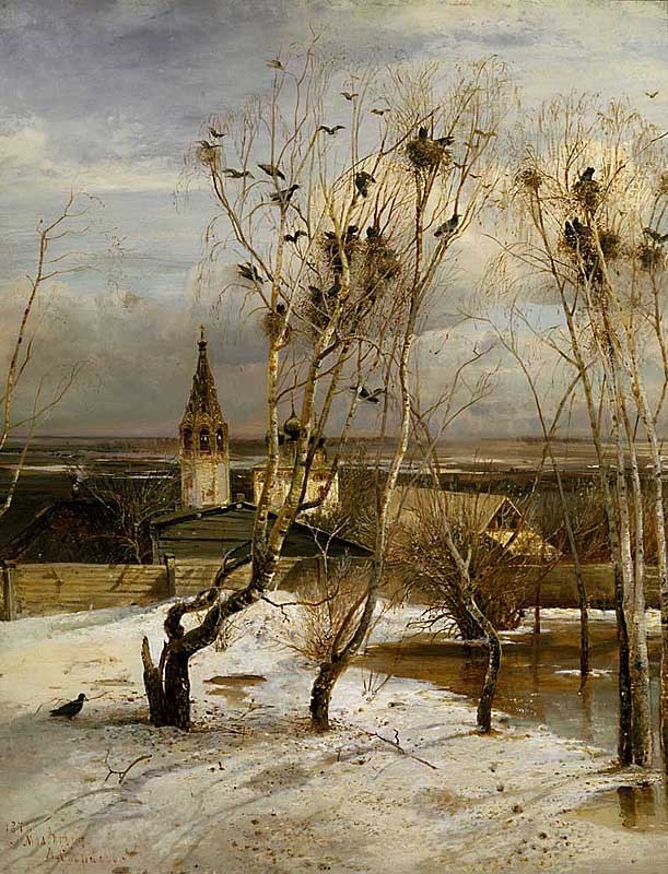 Aleksey Savrasov - Rooks Have Returned, 1871