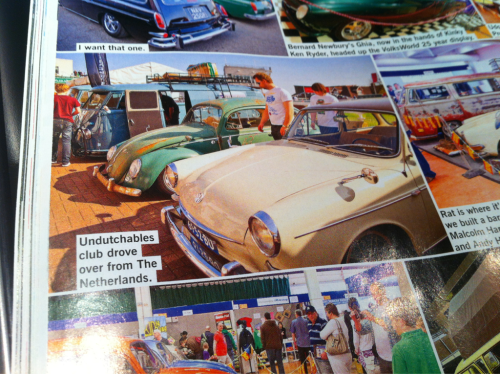 A part of our UDB line up in the latest - July 2012 - issue of the Volksworld Magazine! Yes we drove them, good stuff!