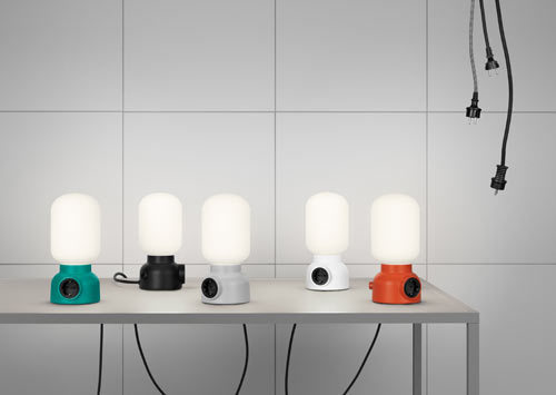 thingsorganizedneatly:   Plug Lamp designed by Form Us With Love for ateljé Lyktan.