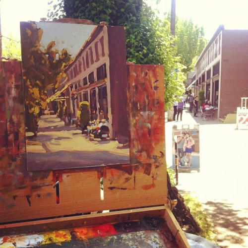 Plein air in Portland. NW 23rd Ave.  (Taken with instagram)