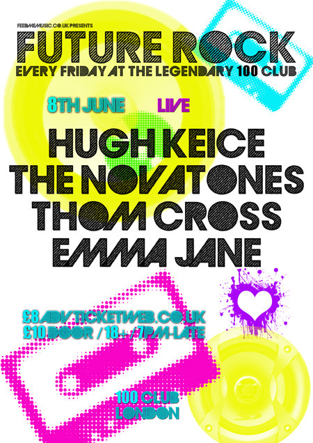 This should be a special night, so I'm promoting it early: Thom Cross live at the 100 Club, Friday 8th June. Put it in the diary! For tickets and more information, please go to Feed Me Music. Hope to see you there!