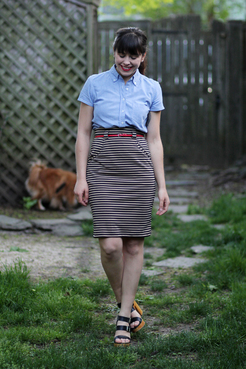 This nautical look from blogger Veronika, also a teacher, would be such a perfect fun work outfit! (Via Tick Tock Vintage) <3 Jess, ModStylist Need styling suggestions, trend tips, or dress details? Ask a ModStylist and your question might be featured on our feed!