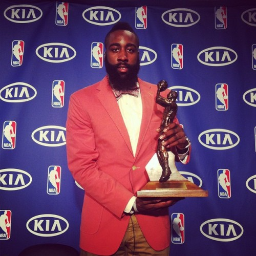 Congratulations to OKC Thunder guard James Harden, the 2012 NBA Sixth Man of the Year Not surprisingly, he got all but 4 of the 1st place votes (3 going to Sixers G Louis Williams, and 1 going to Bulls F Taj Gibson).  Well deserved… even though he probably should be starting and getting more than 31 minutes per game… but hey, whatever works.