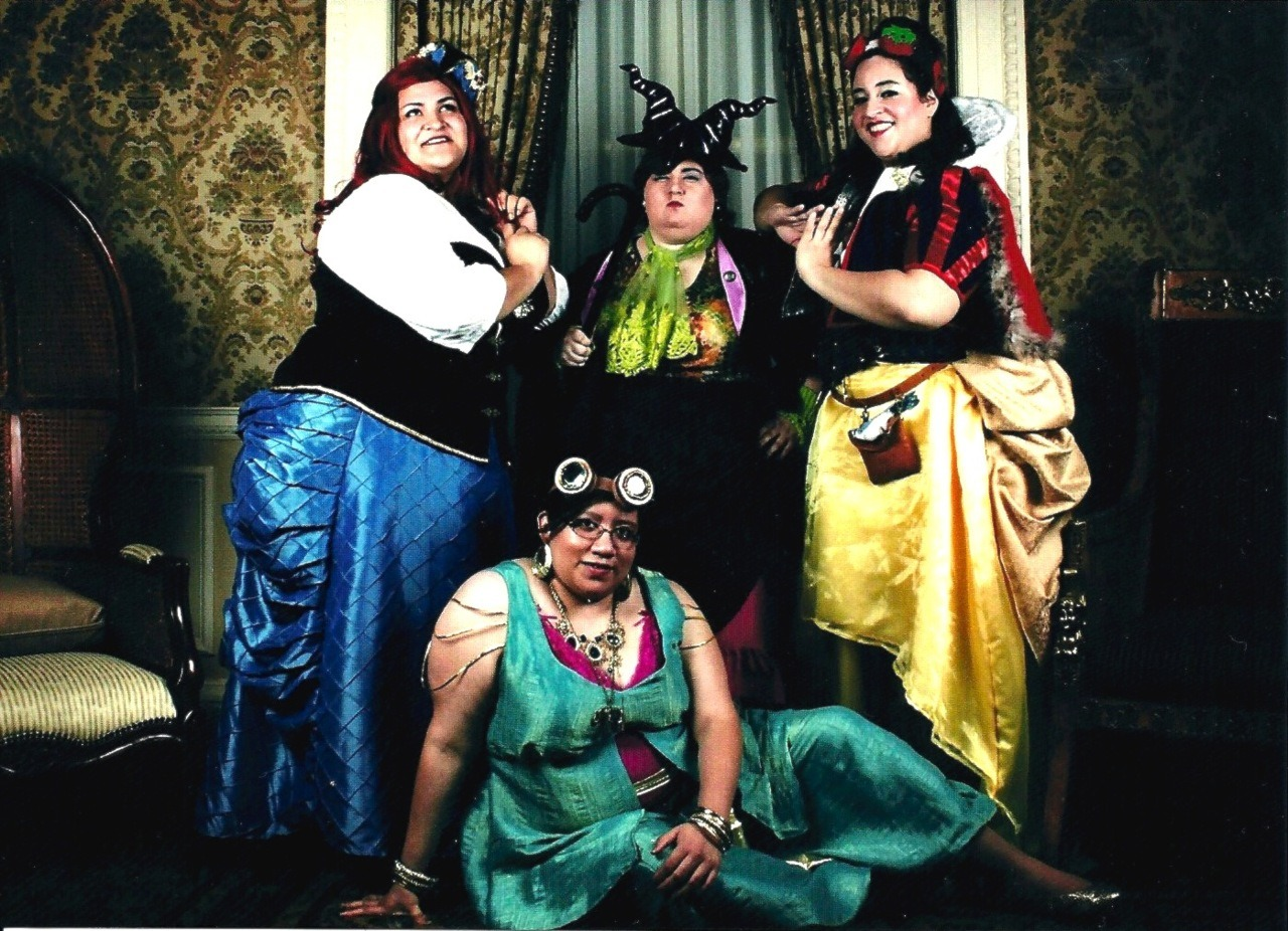 My friends and I as Disney Steampunk at the 2012 Aetherfest