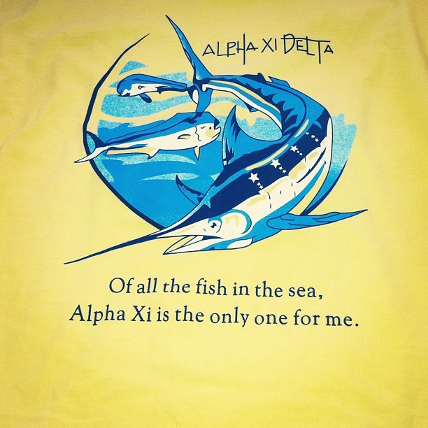 Theta Xi's new summer shirts <3