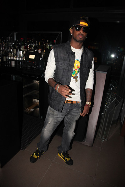 Fabolous Rocking Air Jordan 4 Thunder