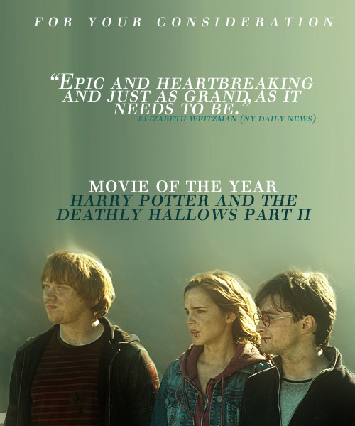 Vote Harry Potter and the Deathly Hallows Part II for Movie of the Year at the MTV Movie Awards