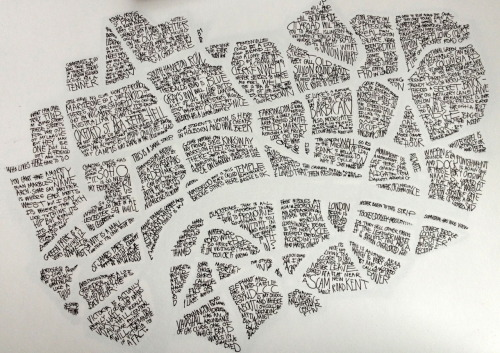 Okay so this is a bit autistic, I know. But it's a map of London made up by my stories from the different areas. Thinking of screen-printing it..