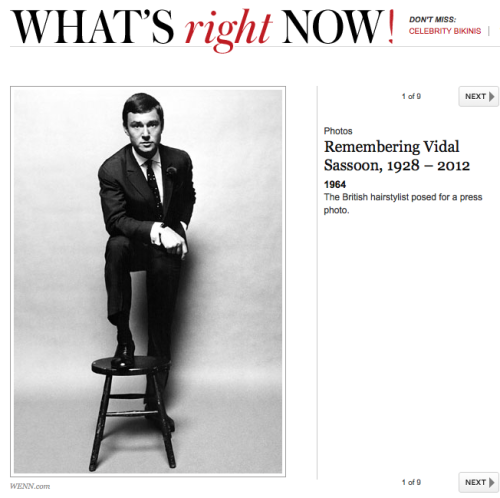 Great article for the legendary Vidal Sassoon! http://bit.ly/JDlQ5b