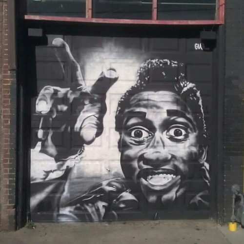 Screamin Jay Hawkins mural on Lexington at Static Age (Taken with instagram)