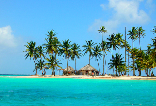 Tropical, islands, palms, sun, sand, beautiful beach landscapes