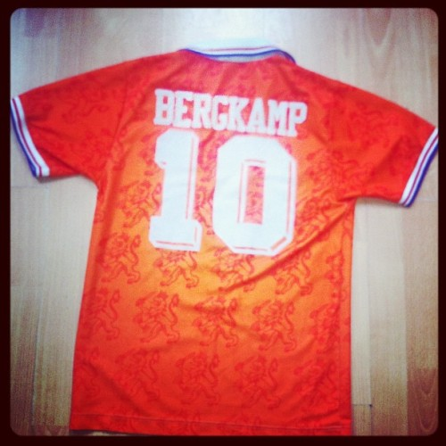Shirt of the day:  Holland (Lotto) Dennis Bergkamp Happy birthday 43rd birthday Dennis