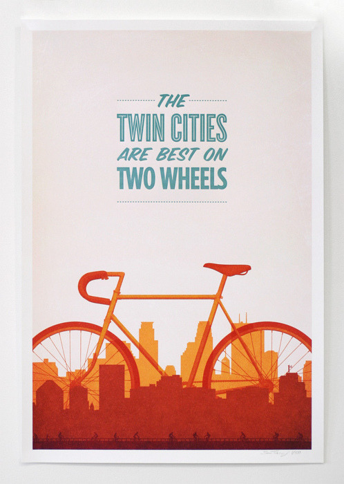 The twin cities are best on two wheels.