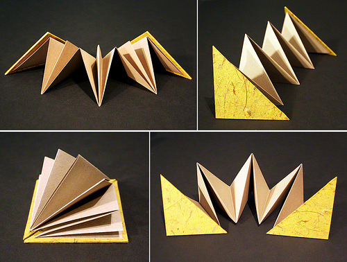 Triangle Accordion Book by Melissa Morris