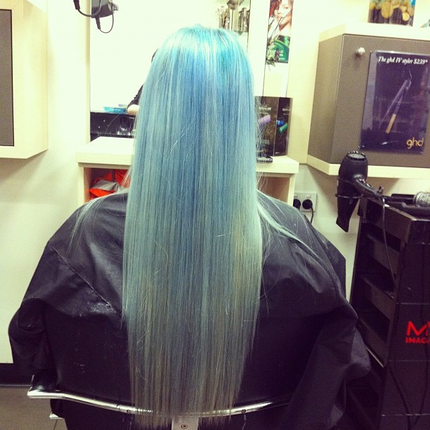 #ombre #colour #hairdressing #blue #hair #work  (Taken with instagram)