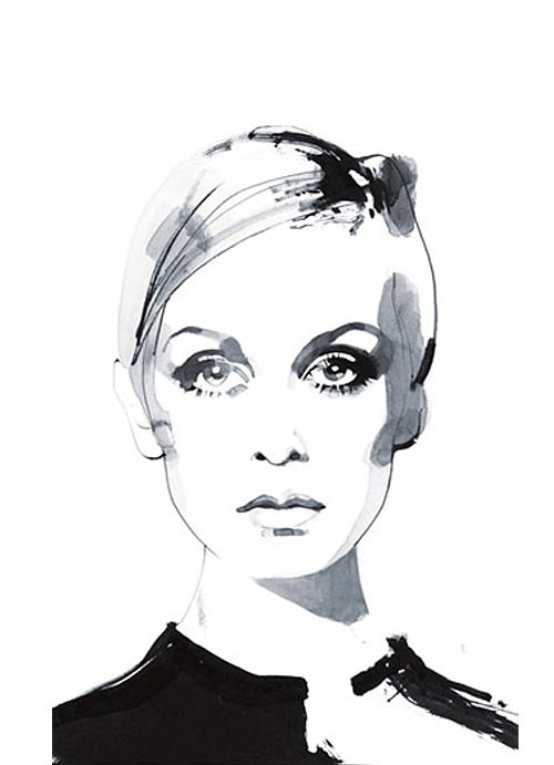 David Downton is my No.1 inspiration #David downton #twiggy