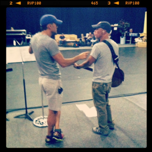 fuckyeahcountrystars:  Kenny Chesney ‏ @kennychesney w/ @TheTimMcGraw at 'Brothers Of The Sun' Tour Rehearsals.