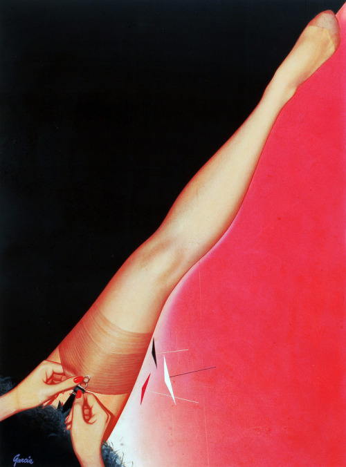 Berkshire Hosiery advertisement, illustration by Rudy Garcia