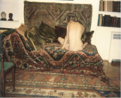naked on sigmund freud's couch, juergen teller, 2012