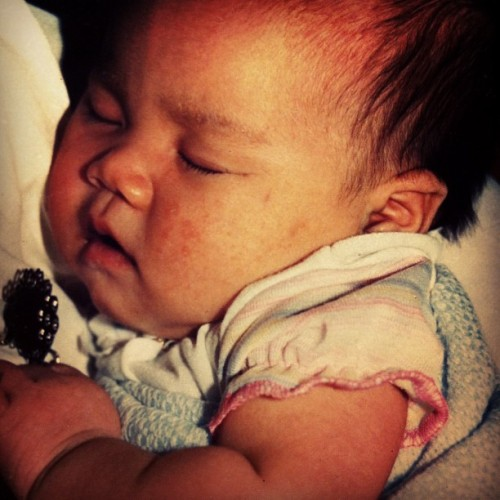 me. 1 month old. cheeks. wussup? (Taken with instagram)
