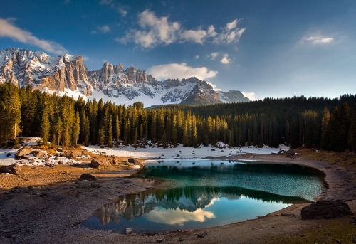 Mirror by Matteo Re Carezza Lake, Dolomites, Italy