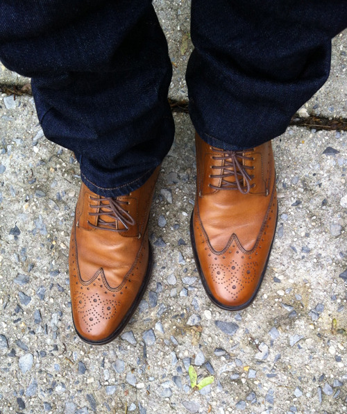 I found these on eBay for $45. great find. #wiwt #cole haan #wingtips