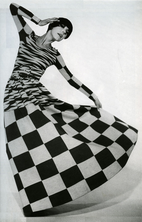Peggy Moffitt in a dress by Rudi Gernreich, 1971.