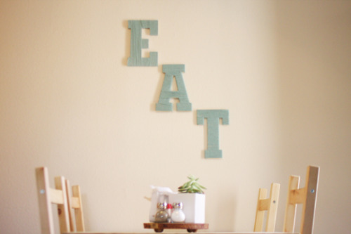 madelinejoy:  Madeline Joy: DIY: Yarn Wrapped Letters