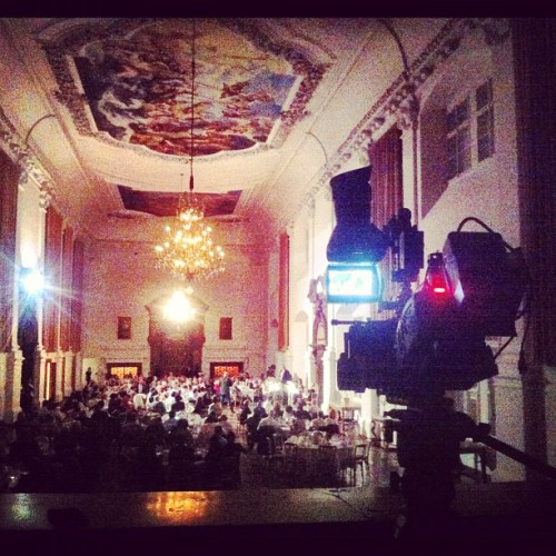 MDC 2012 Day 5 - Filming official speeches and another gala dinner… #salzburg #austria #residence #hall #dinner #work #music #sony #ex3 #xdcam #iphone4 #iphoneonly  (Taken with Instagram at Residenz Salzburg)