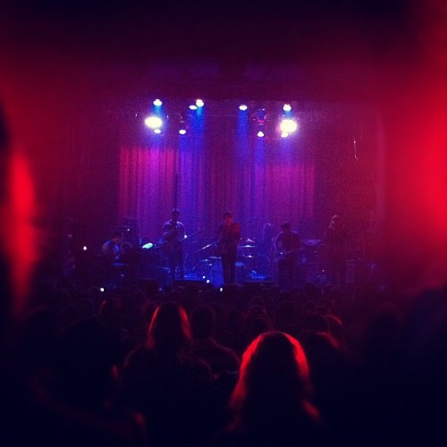 Lydia's on stage (Taken with Instagram at La Tulipe)