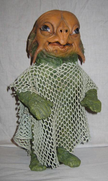 A baby Sea Devil puppet that I made a few years ago.  Made from latex and two part foam. Head and body sculpted by myself.   submitted by silverspike