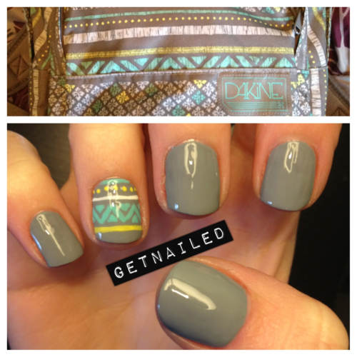 LOVE this! getnail-d:  Did my nails to match my backpack!