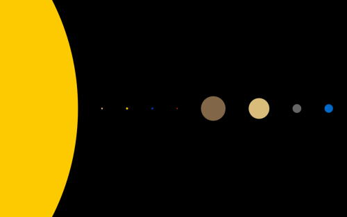 Space Wallpaper of the Month This Month: Solar System by Simple Desktops Have any wallpaper suggestions? Submit them to us and we'll share & give credit!  Like us on Facebook! Follow us on Twitter!