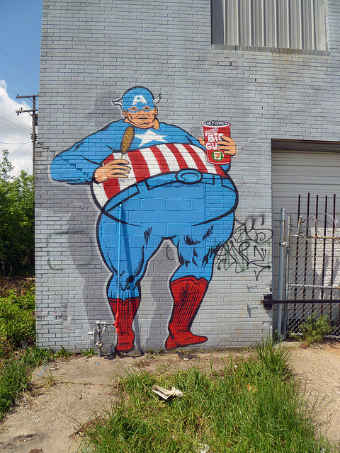 Sever. Captain America. Detroit 2012 on Flickr.Sever. Captain America. #detroit #graffiti