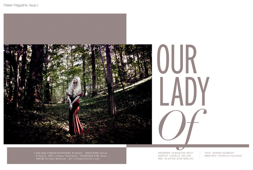 Our Lady Of Maker Magazine Issue 1 Click picture to view the full story x