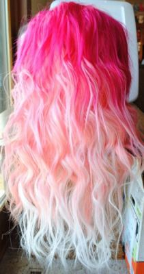 ombre cotton candy hair, SUMMER come sooner pls thx xxo