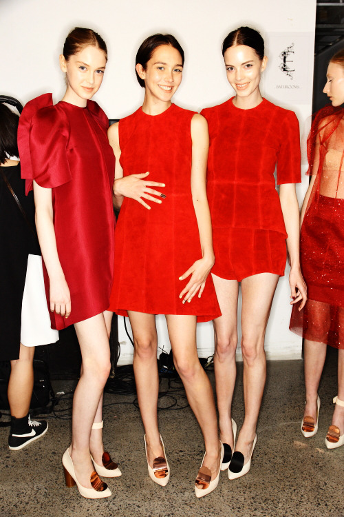 Ellery SS12-13 Fashion Show Sydney Backstage, click on photo to see more pics from Ellery.