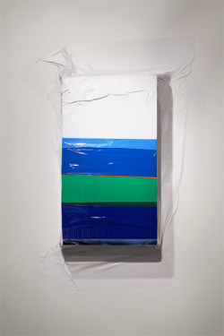Kelly Jazvac, Haze, salvaged adhesive vinyl, cardboard, 2010