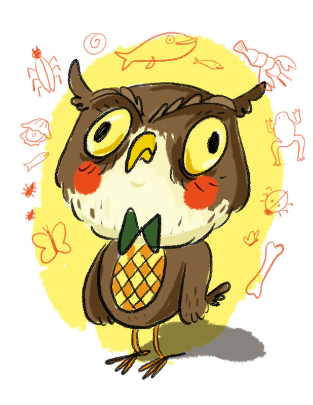 Blathers. He lives in the museum where he sleeps standing up.